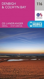 Wandelkaart Ordnance Survey | Denbigh to Colwyn Bay 116 | ISBN 9780319216246