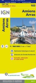 Wegenkaart - Fietskaart Amiens-Arras | IGN 103 | ISBN 9782758543565