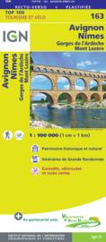 Wegenkaart - fietskaart Avignon - Nimes | IGN 163 | ISBN 9782758547723