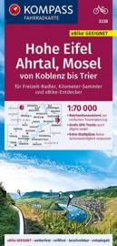 Fietskaart Hohe Eifel, Ahrtal, Mosel | Kompass 3338 | 1:70.000 | ISBN 9783990446829