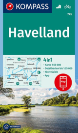 Wandelkaart Kompass Havelland | Kompass 745 | 1:50.000 | ISBN 9783990442555