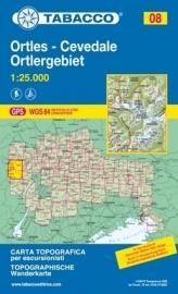 Wandelkaart Ortler - Cevedale | Tabacco 8 | 1:25.000 | ISBN 9788883150081
