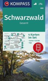 Wandelkaart Schwarzwald gesamt - 4-delige set | Kompass 888 | 1:50.000 | ISBN 9783990447048