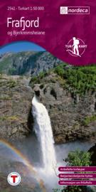 Wandelkaart Frafjord- og Bjerkreimsheianer 2541 | Nordeca | 1:50.000 | ISBN 7046660025413