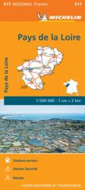 Wegenkaart Pays de la Loire 2020 | Michelin 17517 | ISBN 9782067243804