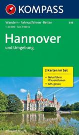 Wandelkaart Hannover und Umgebung | Kompass 848 - 2 delige set | 1:50.000 | ISBN 9783850266154