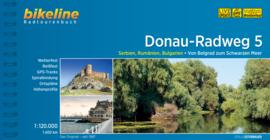 Fietsgids Donau Radweg 5 - 1400 km. | Van Belgrado naar de Zwarte Zee | Bikeline | ISBN 9783850004466