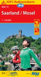 Fietskaart Saarland / Mosel nr. 19  | ADFC | 1:150.000 | ISBN 9783870739607