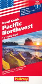 Wegenkaart Pacific NorthWest nr.1 | Hallwag | 1:1,2 miljoen | ISBN 9783828307520