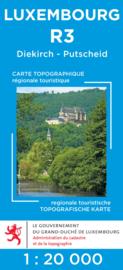 Wandelkaart Diekirch / Putscheid | Topografische dienst Luxembourg 03 | ISBN 5425013060417