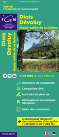 Wandelkaart - Fietskaart Diois, Devoluy, Haute-Vallée de la Drôme | IGN TOP 75 nr. 9 | ISBN 9782758526544