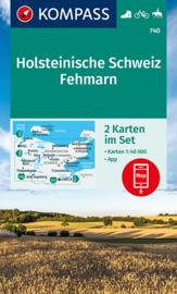 Wandelkaart Naturpark Holsteinische Schweiz | Kompass 740 | ISBN 9783991210856
