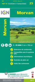 Wandelkaart - Fietskaart Morvan nr. 25  |  1:75.000 | ISBN 9782758547365
