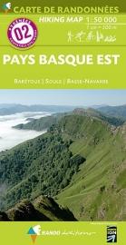 Wandelkaart Pays Basque Est - Barétous - Navarre (Frankrijk - Pyreneeen) | Rando Edition 02 | ISBN 9782344007655