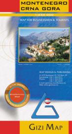 Wegenkaart Montenegro - Crna Gora | Gizi Map | ISBN 9786155010149