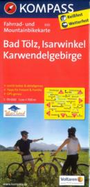Fietskaart  Bad Tölz - Isarwinkel - Karwendelgebirge | Kompass 3125 | 1:70.000 | ISBN 9783850263351