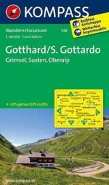 Wandelkaart Gotthard - Grimsel -Susten | Kompass 108 | 1:40.000 | ISBN 9783850269650