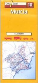 Auto - Fietskaart Murcia 10 | GeoEstel | 1:250.000 | ISBN 9788495788108