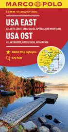 Wegenkaart USA East |  Marco Polo / Mair | Wegenkaart USA Oost | ISBN 9783829739382