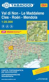 Wandelkaart Val di Non - Le Maddalene / Cles - Roén - Mendola | Tabacco 64 | 1:25.000 | ISBN 9788883151095