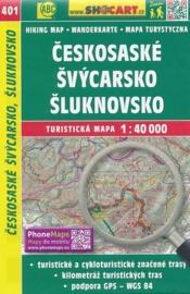 Wandelkaart Tsjechië -  Českosaské Švýcarsko, Šluknovsko | Shocart 401 | ISBN 9788072246793