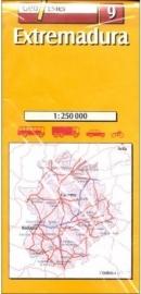 Wegenkaart-Fietskaart Extremadura No. 9 | GeoEstel | 1:250.000 | ISBN 9788495788191