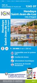 Wandelkaart Hendaye - St.Jean de Luz - Cote d'Argent   IGN 1245OT   ISBN 9782758551393