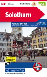 Fietskaart Solothurn | Kümmerly+Frey nr. 19 | 1:60.000 | ISBN 9783259024195