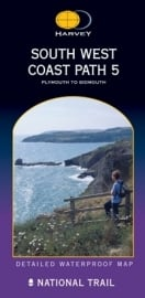 Wandelkaart The South West coast path 5 | Harvey | 1:40.000 | ISBN 9781851374427