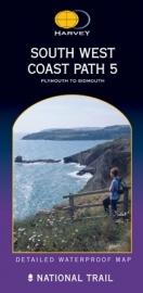 Wandelkaart The South West coast path 5 | Harvey | 1:40.000 | ISBN 9781851374427