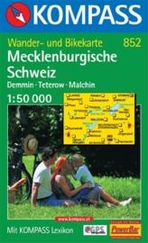 Wandelkaart Mecklenburgische Schweiz  | Kompass 852 | 1:50.000 | ISBN 9783854917922