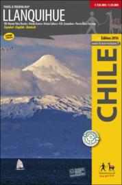 Wandelkaart Llanquihue   Travel & Trekking map ViaChile Editores   1:50.000 / 1:150.000   ISBN 9789568925246
