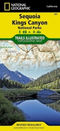 Wandelkaart Sequoia - Kings Canyon National Parks 205 | National Geographic | ISBN 9781566952989