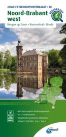 Fietskaart Noord Brabant west   ANWB 20   1:100.000   ISBN 9789018046934