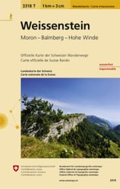 Wandelkaart  Weissenstein   Bundesamt 3318T    ISBN 9783302333182