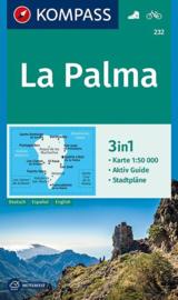 Wandelkaart La Palma | Kompass 232 | 1:50.000 | ISBN 9783990444832