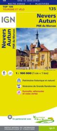 Wegenkaart - fietskaart Nevers - Autun - Morvan | IGN 135 | ISBN 9782758543732
