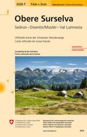 Wandelkaart Obere Surselva | Bundesamt 3326T |  ISBN 9783302333267
