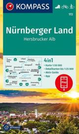 Wandelkaart Nürnberger Land | Kompass 172 | 1:50.000 | ISBN 9783990445426