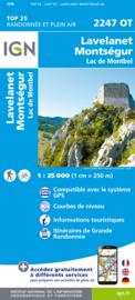 Wandelkaart Lavelanet, Chalabre, Montségur, Laroque-d`Olmes | Pyreneeën  | IGN 2247OT - IGN 2247 OT