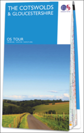 Fietskaart - Wegenkaart The Cotswolds / Gloucester-shire nr. 08 | Ordnance Survey | 1:100.000 | ISBN 9780319263877