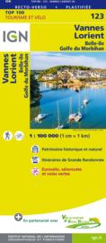 Wegenkaart - Fietskaart Vannes - Lorient | IGN 123 | ISBN 9782758543695