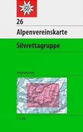 Wandelkaart Silvrettagruppe 26 | OAV 1:25.000 | ISBN 9783937530802