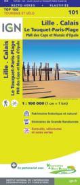 Wegenkaart - Fietskaart Lille - Dunkerque - Calais - Boulogne sur Mer - Le Touquet | IGN 101 | ISBN 9782758547495