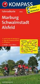 Fietskaart Marburg - Schwalmstadt - Alsfeld | Kompass 3066 | 1:70.000 | ISBN 9783850265805