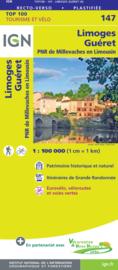 Wegenkaart - Fietskaart Limoges - Guéret | IGN 147 | ISBN 9782758547631