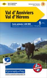 Wandelkaart Val d'Anniviers - Val d'Hérens - Crans-Montana   Kümmerly + Frey 23   1:60.000   ISBN 9783259022238