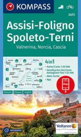 Wandelkaart Assisi - Foligno - Spoleto - Terni - Valnerina | Kompass 2473 | ISBN 9783990443774