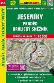Wandelkaart  Tsjechië - Jeseníky, Praděd, Králický Sněžník | Shocart 458 | ISBN 9788072247363