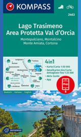 Wandelkaart - Fietskaart Lago Trasimeno - Area Protetta Val d'Orcia | 1:50.000 | Kompass 2463 | ISBN 9783990446164